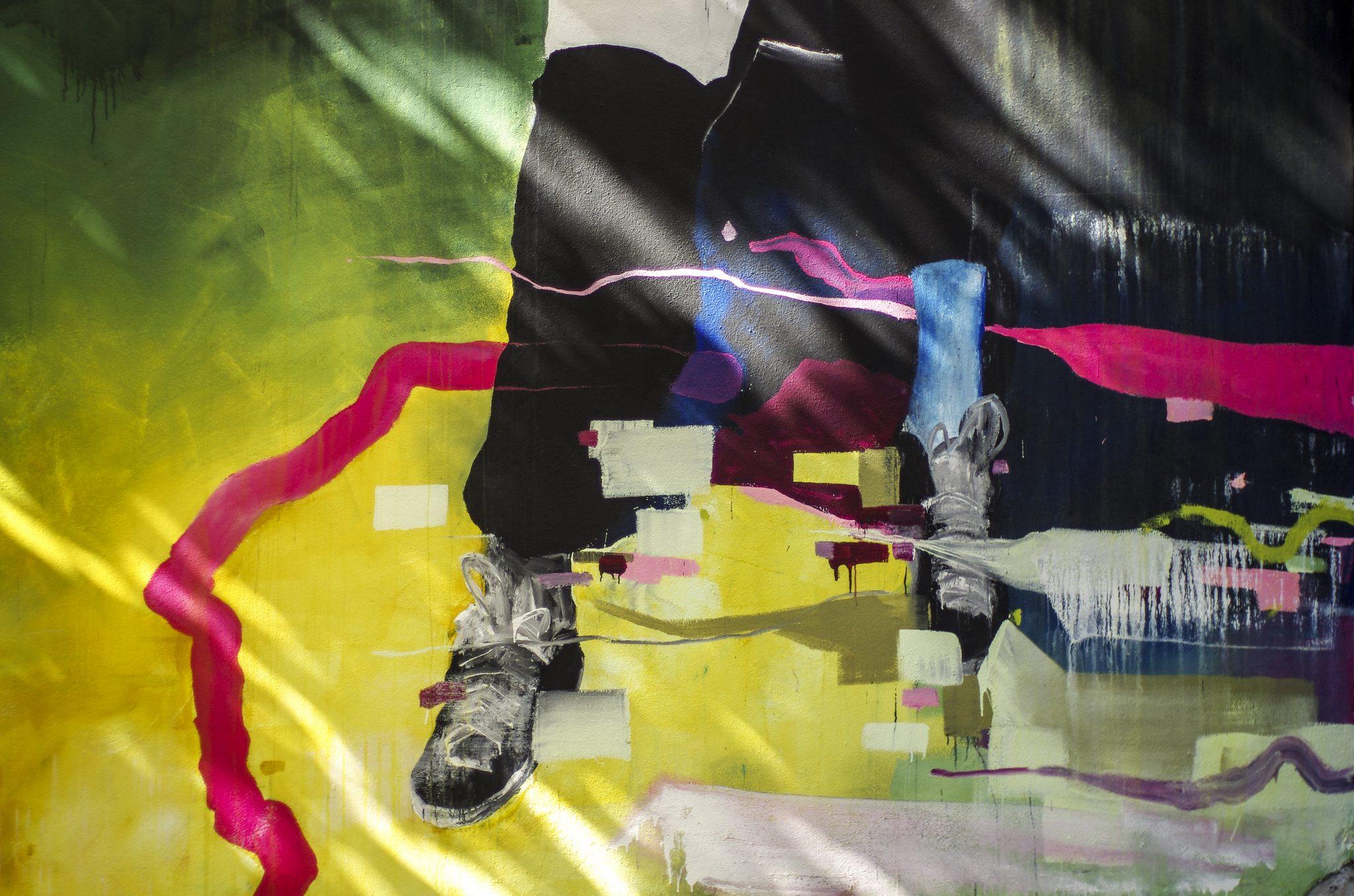 Fresque de Fred Calmets hommage à Zao Wou-Ki, Paris 14e