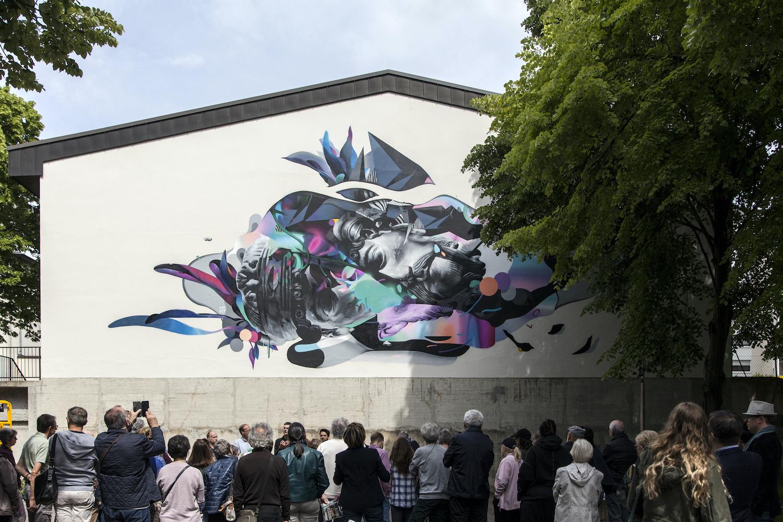 Fresque d'ApSet pour Place aux Arts / La Nuit des Musées à Reims